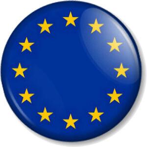 eu european union flag 25mm 1 pin button badge symbol gold stars emblem crest ebay. Black Bedroom Furniture Sets. Home Design Ideas