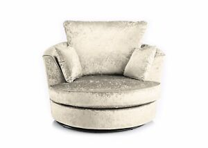 Swell Details About Dylan Chicago Crushed Velvet Fabric Swivel Cuddle Love Chair In 10 Colours Forskolin Free Trial Chair Design Images Forskolin Free Trialorg
