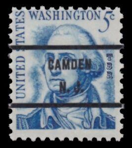 1283Bd-Washington-5c-CAMDEN-N-J-Precancel-71-Prominent-Americans-MNH-Buy-Now