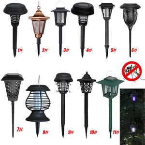 Solar-Powered-Outdoor-WATERROOF-Mosquito-Fly-Bug-Insect-Zapper-tueur-Piege-Lampe
