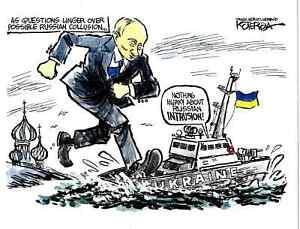 Vladimir Putin Russia Ukraine 2018 Jeff Koterba Political Cartoon Color B W Ebay