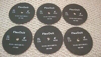 """Cut off  Wheels Razor Blades FlexOvit A60-TB 4/""""x3//64/""""x5//8/"""" Metal lot of 4 19k"""