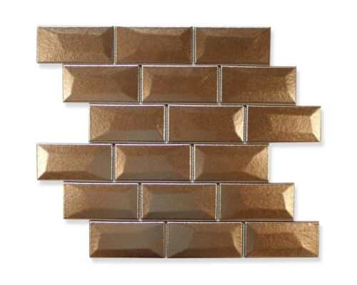Appiani Libra 2x4 Porcelain Mosaic Tiles Backsplash//Bathroom Bronze Shine