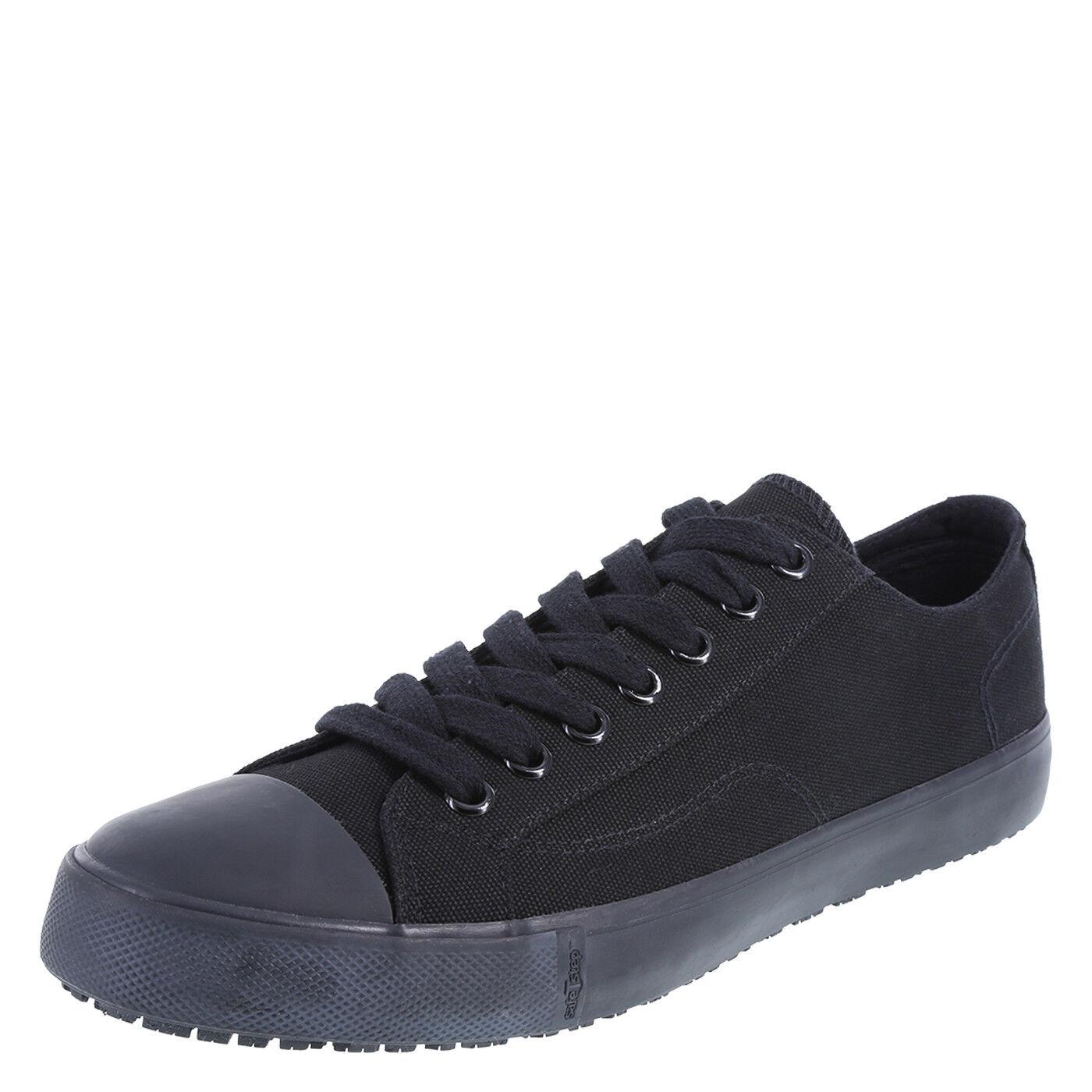 MEN'S SAFE T STEP Black Canvas KICK Slip Resistant SNEAKERS * SZ 14 W New In Box