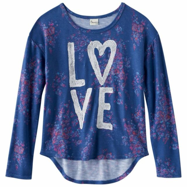1117729301f96f Mudd Girl's Plus Size High-low Sweater Knit Top Scoop Neck Long ...