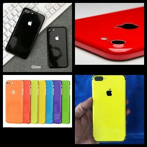 Gloss-Skin-Vinyl-Wrap-Sticker-Decal-Case-Cover-For-All-iPhone-Various-Colors