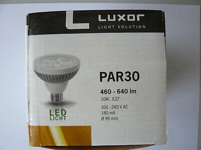Farbe: silber 10W 100V-240V AC 460lm Luxor LED-PAR30 warm weiß 60° E27