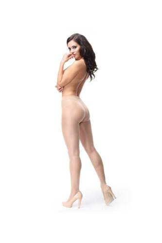 Miss O Open Crotch Shiny Tights P102