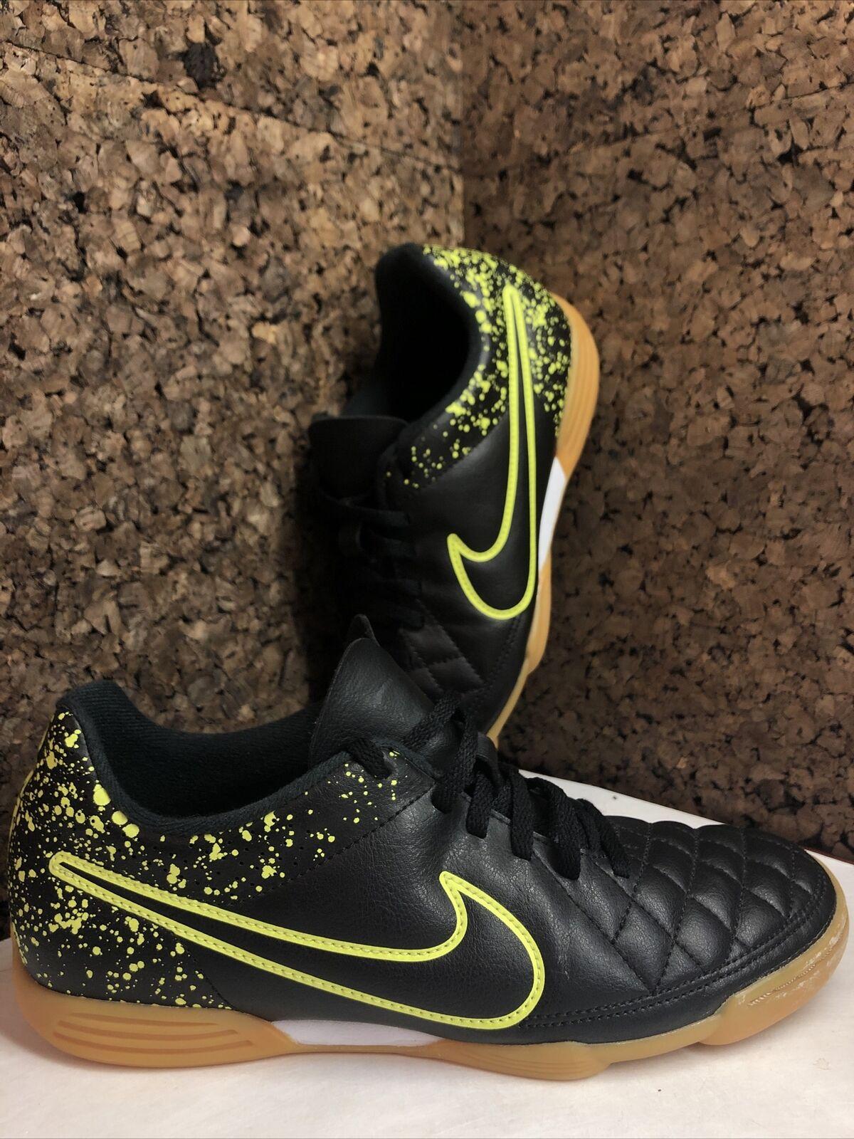 Nike Tiempo Rio II IC Black Volt Green Soccer Indoor Shoes US Sz ...