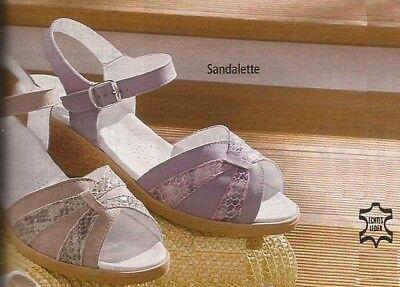 SCHUHE DAMENSCHUHE SANDALETTE SANDALE NATUR FORM LEDER GR 42 ( 8 ) WEITE G | eBay