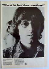 RANDY NEWMAN 1970 Poster Ad RANDY NEWMAN 12 SONGS