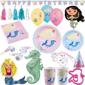 Meerjungfrau Kindergeburtstag Party Deko Set Geburtstag Dekoration