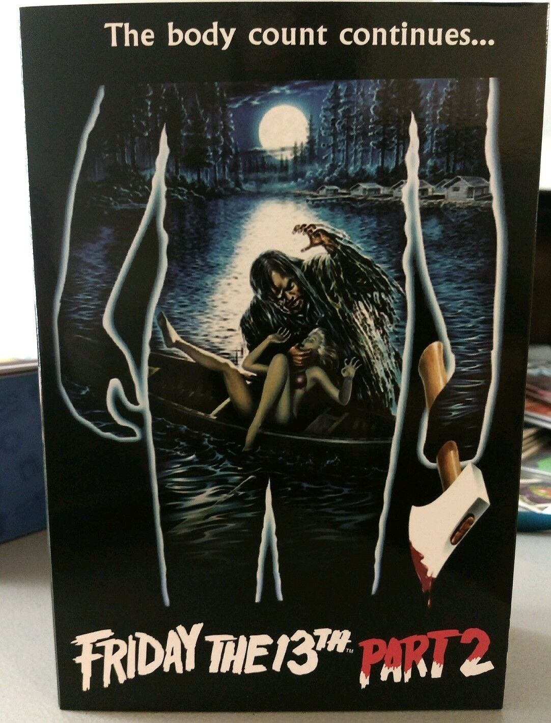 NECA Friday the 13th Part 2 Jason Voorhees Figure. Signed by Warrington Gillette