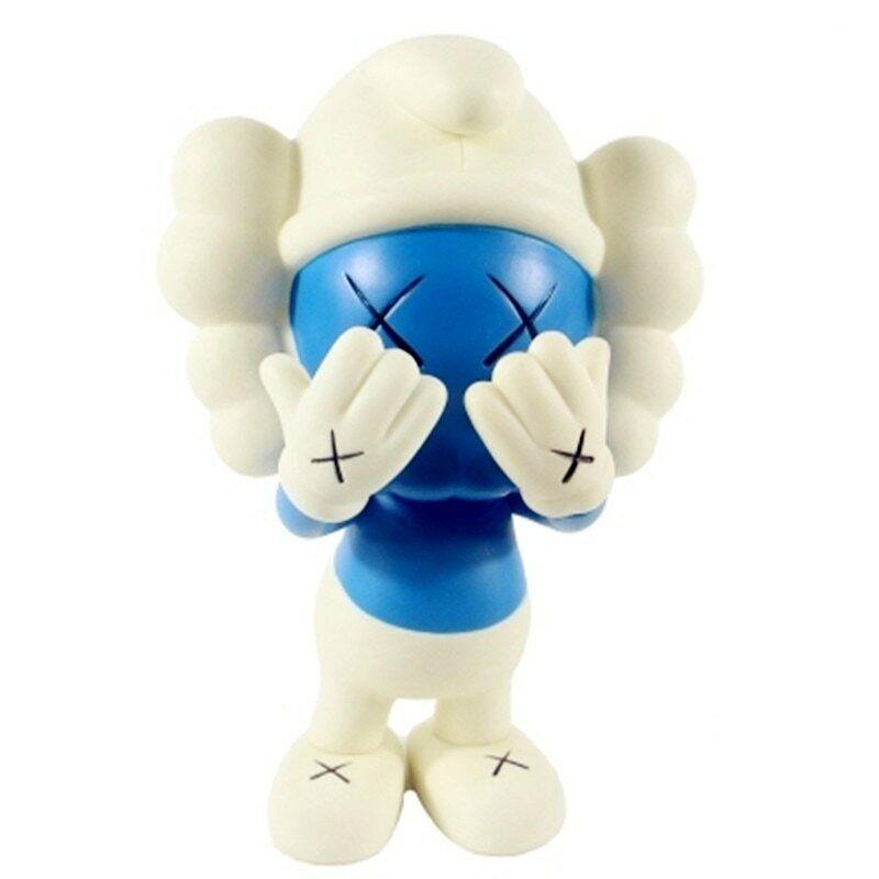 KAWS OriginalFake  Street Art BFF PVC azione cifra blu Coloreeee bambini giocattoli  2019  consegna rapida