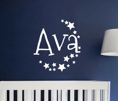 Custom Name Alphabet Wall Sticker Bedroom Hipster Cool Kids MS286VC