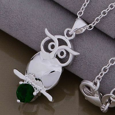 Wholesale 925Silver Jewelry Pendant Necklace Chain Xmas Gift+Box