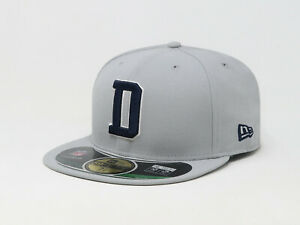 New-Era-59Fifty-Hat-NFL-Team-Dallas-Cowboys-Light-Gray-Mens-On-Field-Fitted-Cap