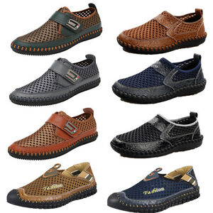 mens mesh summer casual shoes driving slip on outdoor