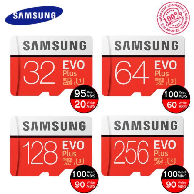 Samsung Micro SDHC Evo Plus 32GB 64gb 128GB Class10 Tf 4K SDXC Carte Mémoire F.