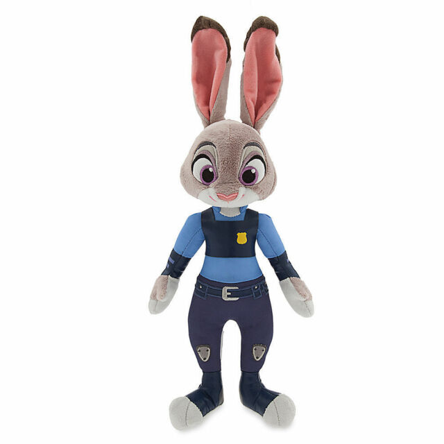 "NWT Disney Store ZOOTOPIA OFFICER JUDY HOPPS PLUSH 15/"" H Toy Doll"