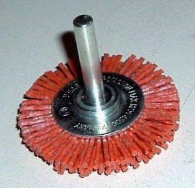 2x Schleifbürste D 100 x10 Schaft 6mm Silizumcarbid SiC K80 Schleifnylon 4500rpm