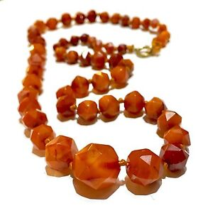 Fine Rare Georgian Victorian Rose Cut Butter Scotch Caramel Amber 15k Clasp Necklace To Make One Feel At Ease And Energetic Jewelry & Watches