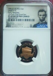 2020 S 1 CENT NGC PF 69 RD ULTRA CAMEO US MINT SET
