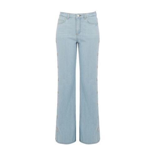 WAREHOUSE Popper Wide Leg Crop Jeans Size 14 RRP £69