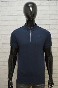 THE-NORTH-FACE-Polo-Maglia-Uomo-Taglia-S-Maglietta-Shirt-Herrenhemd-Cotone-Blu
