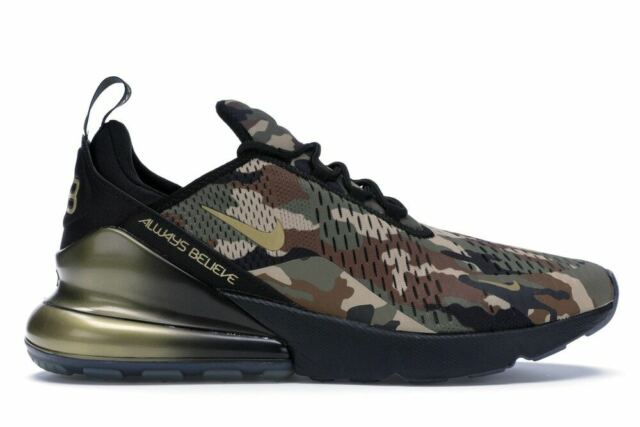 Nike Air Max 270 Doernbecher Freestyle Camo Black Gold Aiden Barber Mens  Size 14