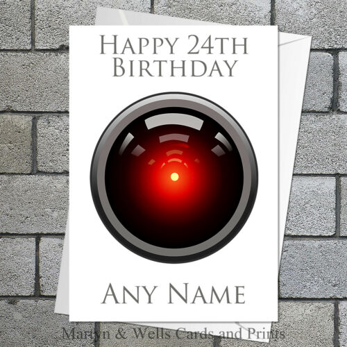 5x7 pouces 2001 HAL 9000. a space odyssey Personnalisées Carte D/'Anniversaire