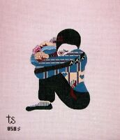 Kw 858s small Mime 18ct Mono Hp Hand Painted Needlepoint Canvas