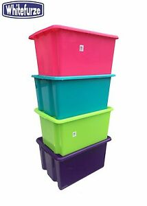 Image Is Loading COLOURFUL PLASTIC STACKABLE STORAGE BOXES BOX TOY BOX