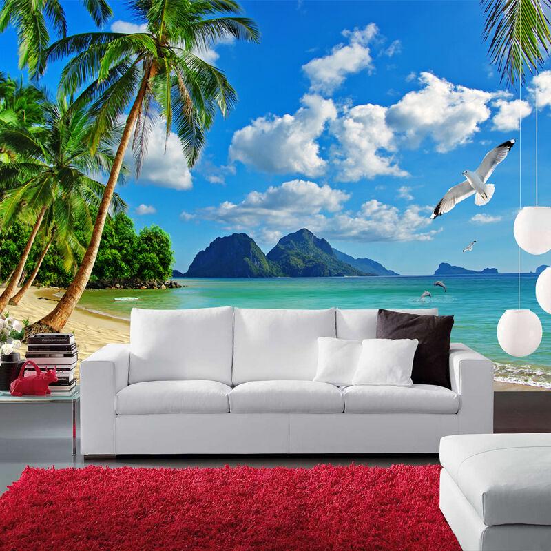3D Cielo, mare 59 Parete Murale Foto Carta da parati immagine sfondo muro stampa