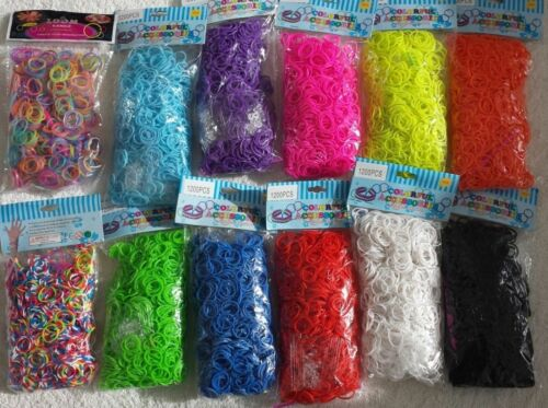 9000 LoomBands bundle C & S Clips mixed cartoon Charms 4400 kit box loomband