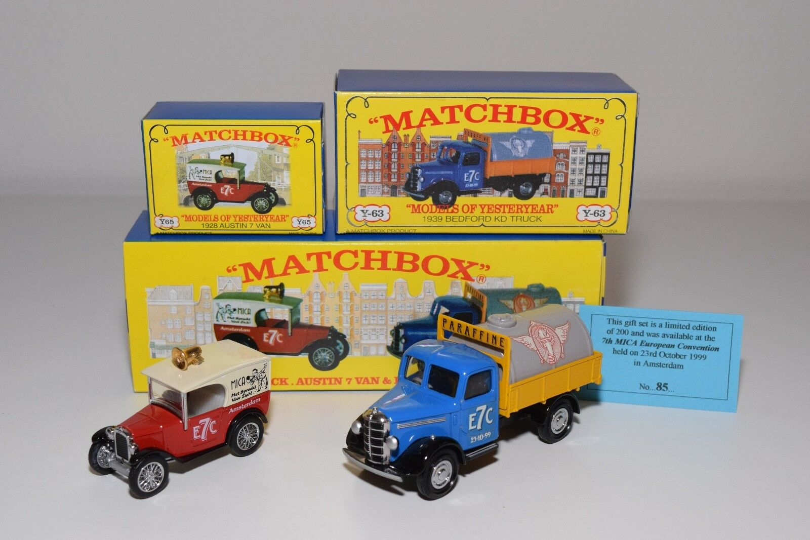 ^^^ MATCHBOX YESTERYEAR 7TH MICA CONVENTION 1999 AMSTERDAM MIB 85 200 RARE