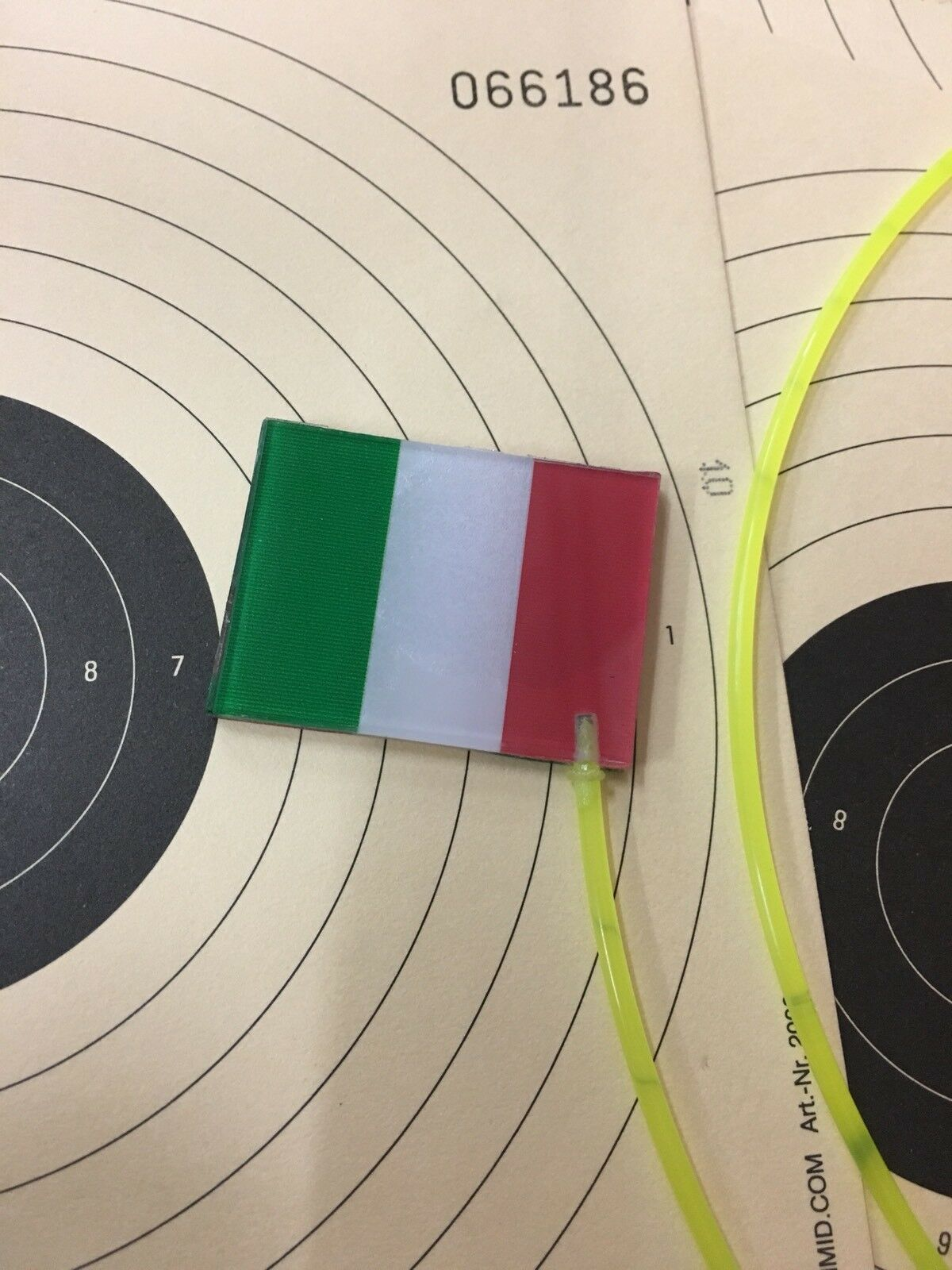 Italien Flag Safety Flag Olympic Shooting