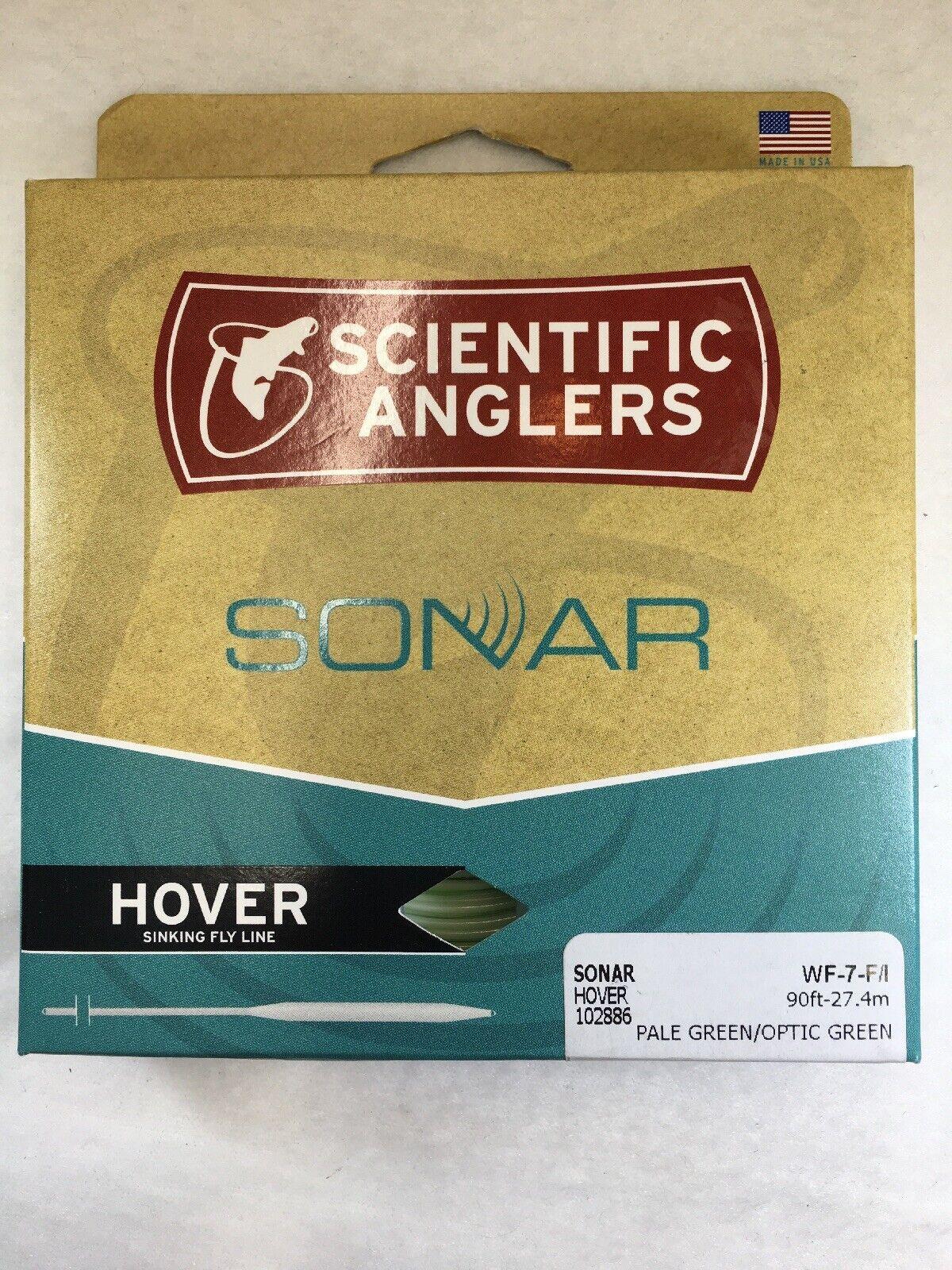 SCIENTIFIC ANGLERS SONAR HOVER WF7FI OPTIC verdePALE verde FISHING FLY LINE