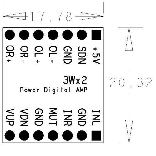 DC5V 3WX2 Stereo dual channel Class D Audio Power Amplifier Board PAM8803 Module