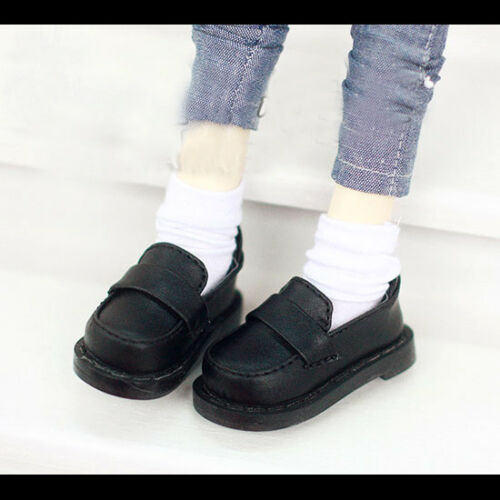 "Black Flats Shoes Casual Bussiness For 1//4 17/"" 44cm BJD AOD AS MSD DZ DD Doll"