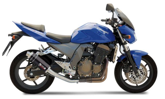 TUBO ESCAPE PARA KAWASAKI Z 750 2004 > 2006 MIVV GP Black INOX NEGRO SLIP-ON