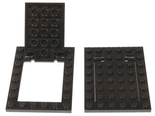 92107 92099 NEUWARE LEGO 2 x Falltür Klapptür Geheimtür schwarz