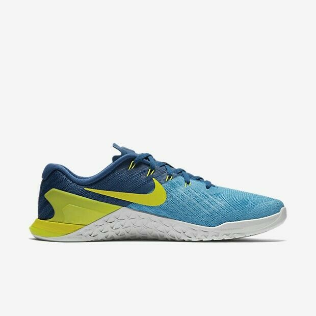 9f67391d9335 ... Nike Metcon Metcon Metcon 3 Cross Training shoes Chlorine bluee Lime  852928 401 Size 14 2dfb80 ...