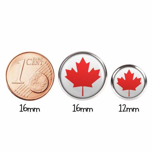 Mylery pendientes par con motivo canadá Canada ottawa bandera plata diferentes