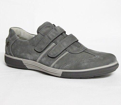Waldläufer Heath Schuhe Sneaker Herrenschuhe Leder Schuhe Heath Herren Grau 539301-768-346 a602ae