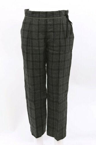 NWT$1275 Brunello Cucinelli Women 100/% Linen Plaid Print Beaded Dress Pants A186
