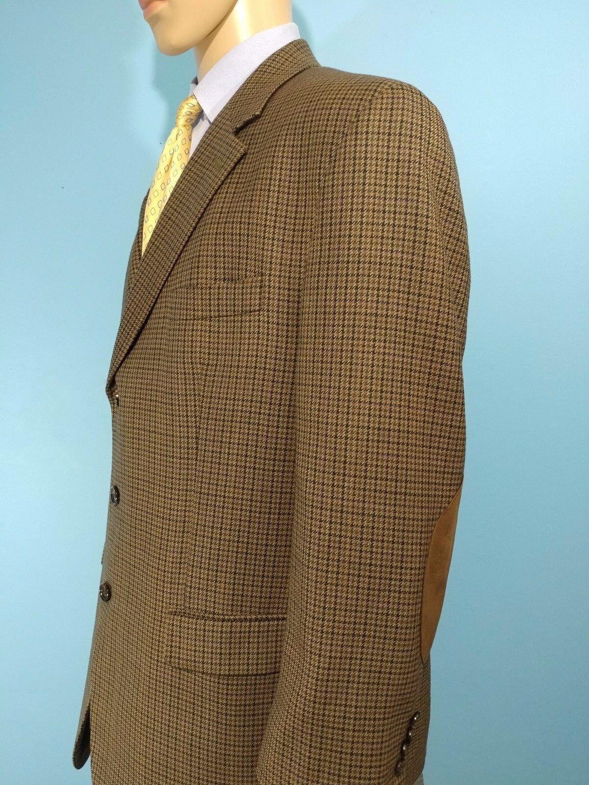 Ralph Ralph Lauren 3 Button Houndstooth Padded Elbows Blazer Sports Coat Größe 46