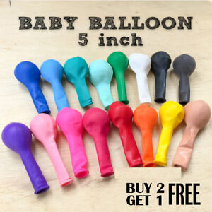 "5/"" INCH LATEX BIRTHDAY PARTY WEDDING BALLOONS BUY 2 GET 1 FREE MINI BALLOONS UK"