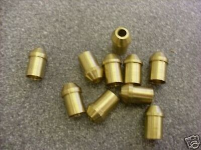 "Steam Powered 3/32"" Pipe Nipples Brass Pack Of 10 Live Steam"