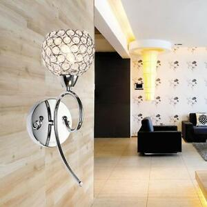 Modern LED Crystal Small Wall Lamp Wall sconce Light Bedroom Bedside lighting eBay